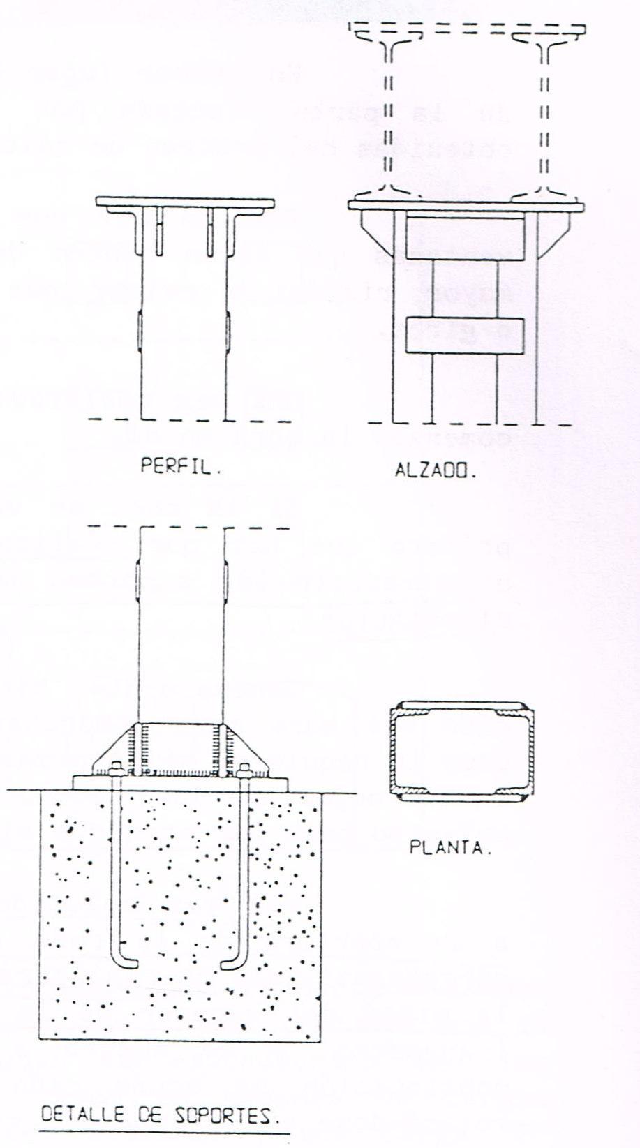 Detalle de soportes para vigas cargaderas