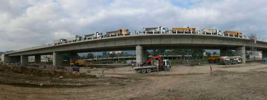 Prueba de Carga de Puentes en Valencia Ingenieria Troyano