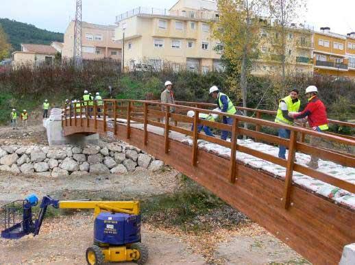 prueba de carga de puente en Valencia